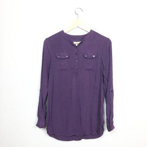 Urban Outfitters Staring at Stars Henley Purple S